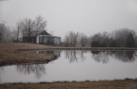 "0284-IN ""Indiana Barn in Fog"""